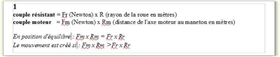 Comment calculer le couple de démarrage d'un moteur?