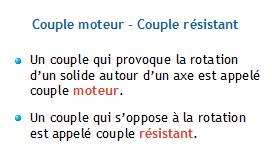 Comment calculer le couple requis?