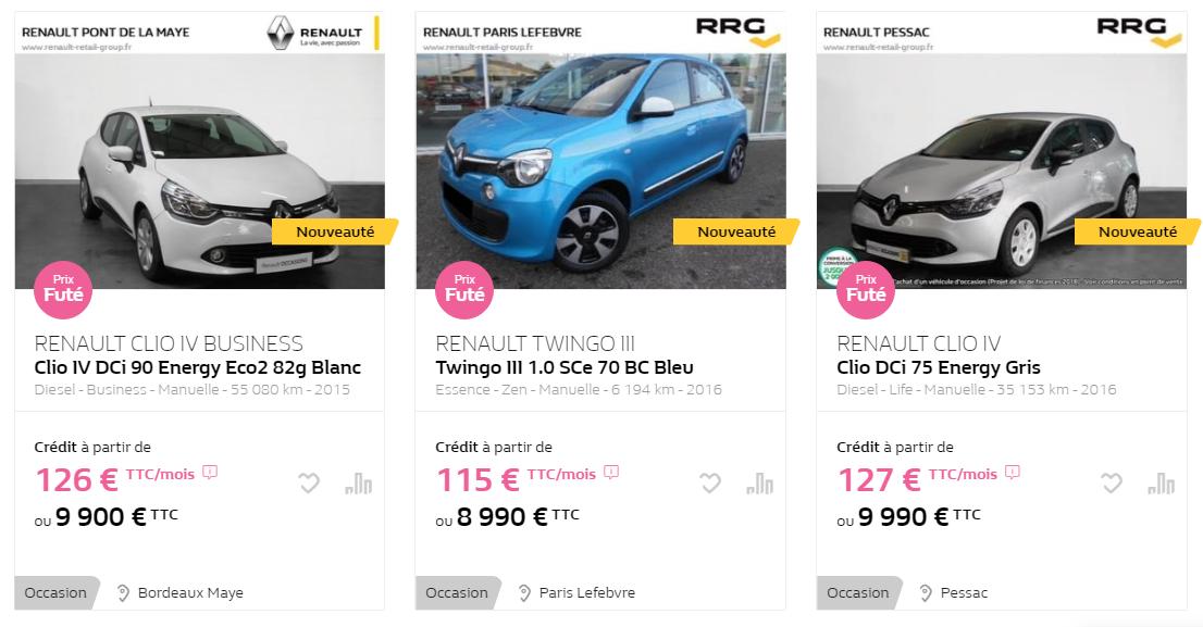 Quelle voiture d'occasion acheter en 2020 pour 10000 euros?