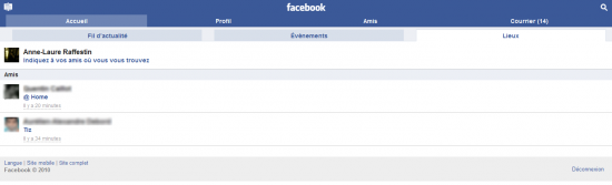 Comment pouvez-vous montrer où nous en sommes sur Facebook?